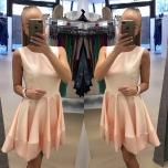 Heleroosa skater kleit