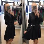 Must pärlitega skater kleit
