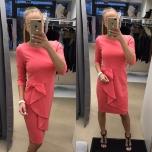 Roosa kolmveerand varrukaga midi kleit