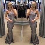 Hõbedane glitter kleit