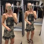 Must,Kuldse sädelusega kleit