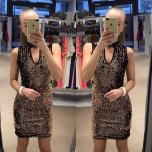 Kuldne pehme litritega chocker kleit