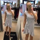 Helehall volangidega kleit