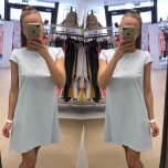 Helesinine A-lõikeline kleit