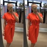 Oranz vööga kleit