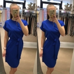 Sinine vööga kleit