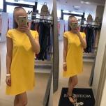 Kollane a-lõikeline kleit